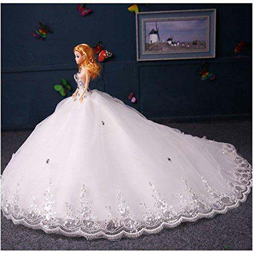 2017 Holiday Or Birthday Gift Wedding Doll Big Drag tailing dress